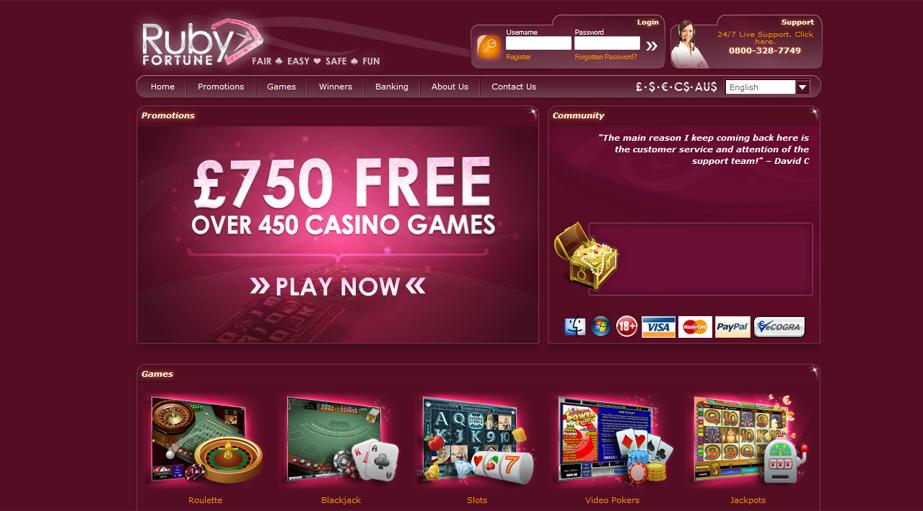 Ruby Fortune Casino No Deposit Bonus